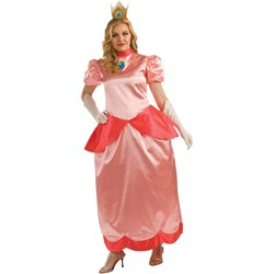 Super Mario Bros.   Deluxe Princess Peach Adult Plus Costume