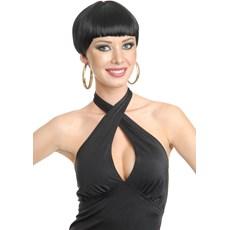 20s Short Flapper (Black) Adult Wig
