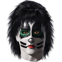 KISS – Catman Latex Full Mask With Hair Adult