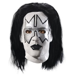 KISS  Spaceman Latex Full Mask With Hair Adult