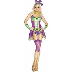 Mardi Gras Tainted Harlequin Adult Costume