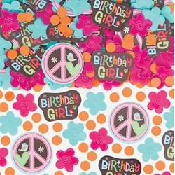 Hippie Chick Birthday Confetti