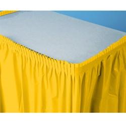School Bus Yellow                                     (Yellow) Plastic Table Skirt