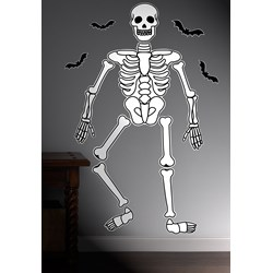 Halloween Skeleton Giant Wall Decals