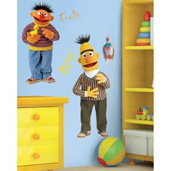 Burt and Ernie Peel and Stick Giant Wall Decals