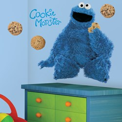 Cookie Monster Peel and Stick Giant Wall Decals