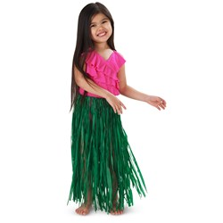 Child Green Raffia Hula Skirt