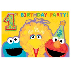 Sesame Street 1st – Invitations (20 count)