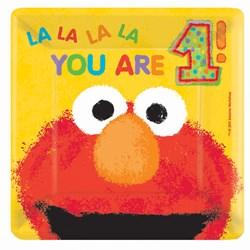Elmo's 1st – Square Dessert Plates (18 count)