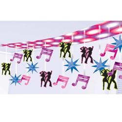 Disco Dancers Foil Ceiling Decoration