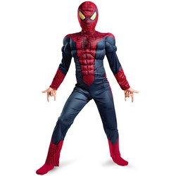 The Amazing Spider-Man Light Up Muscle Chest Child Costume