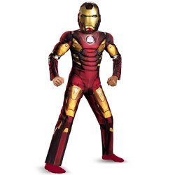 The Avengers Iron Man Mark VII Light Up Muscle Chest Child Costume