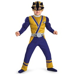 Power Rangers Gold Samurai Ranger Muscle Chest Child Costume