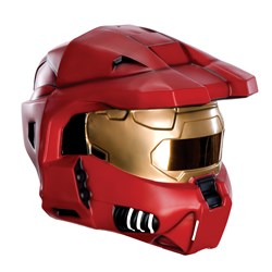 2 Piece Deluxe Red Spartan Mask </p> <p>