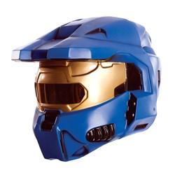 2 Piece Deluxe Blue Spartan Mask</p> <p>