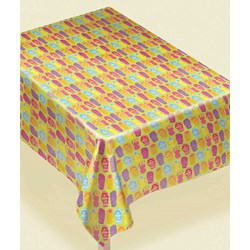 Flip Flop Flannel Backed Vinyl Tablecover