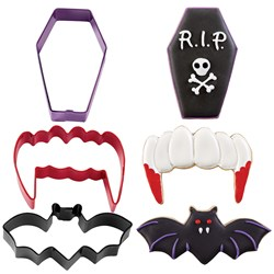 Vampire Halloween Cookie Cutter Set