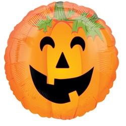 Halloween Smiley Pumpkin Foil Balloon