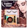 Hallow's Eve Golden Glam Makeup and False Eyelashes Kit Adult