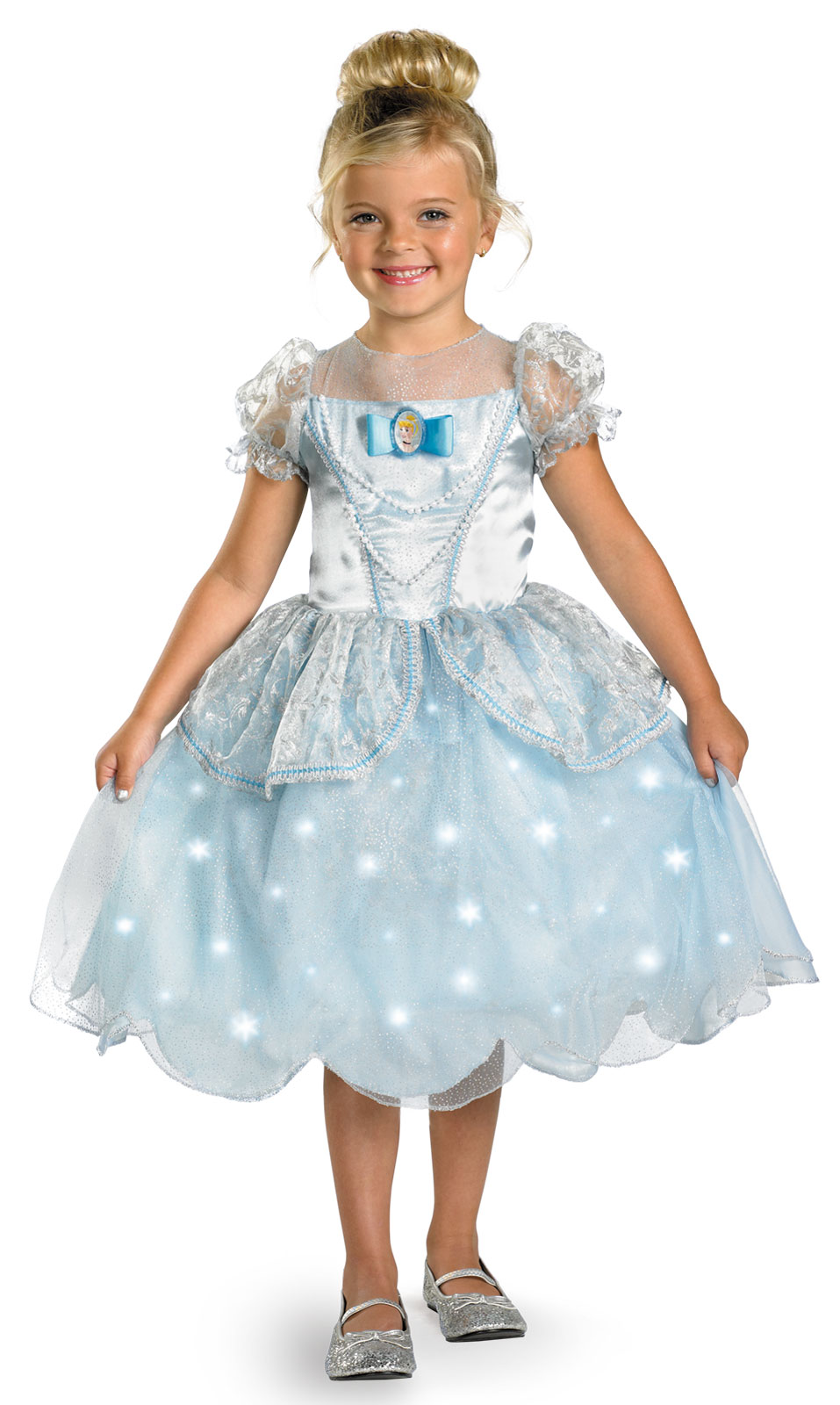 Cinderella Wedding Dress Child : Disney cinderella wedding dress child deluxe light