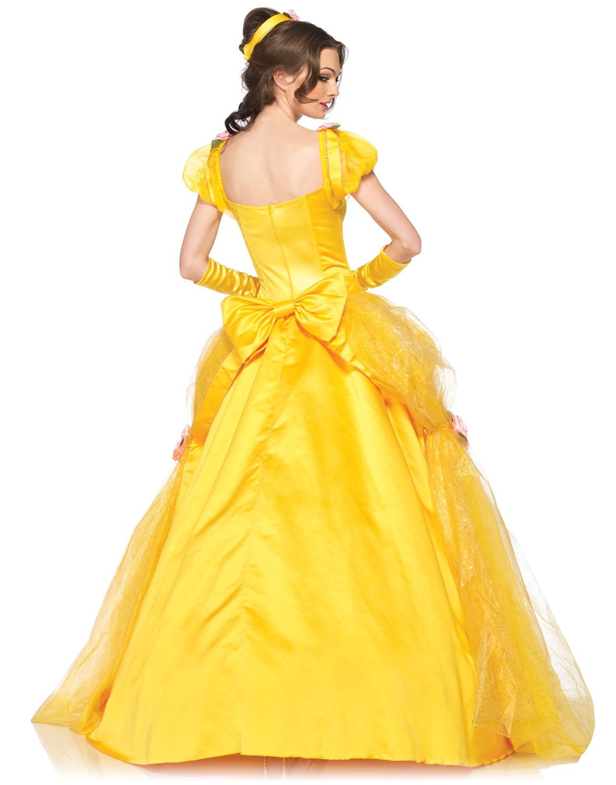 Disney princess gowns for adults -  Alt Image 1 Disney Princesses Enchanting Belle Deluxe Adult Costume