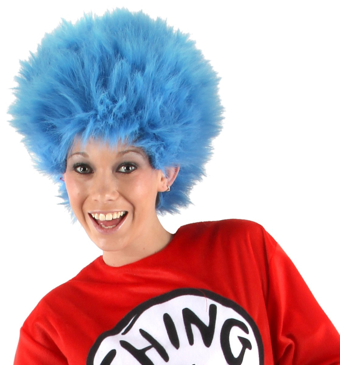 dr seuss the cat in the hat thing 1 and thing 2 wig