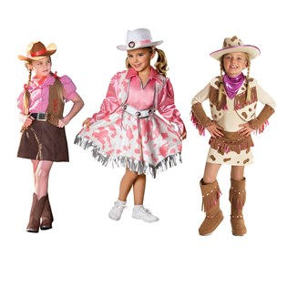Girls Cowgirls Dress-up Set