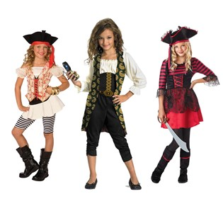 Girls Pirates Dress-up Set