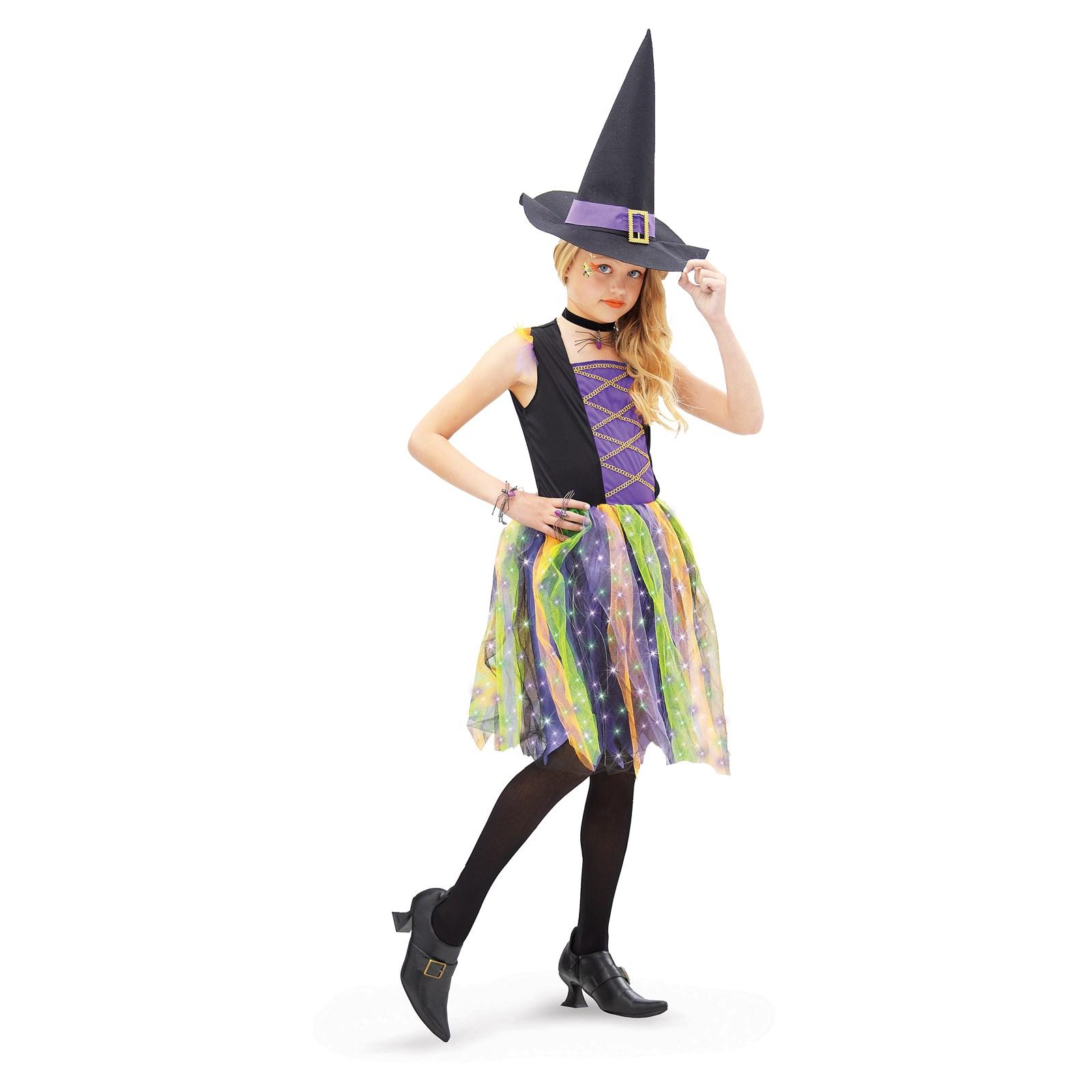 Light-Up Rainbow Witch Child Costume | BuyCostumes.com