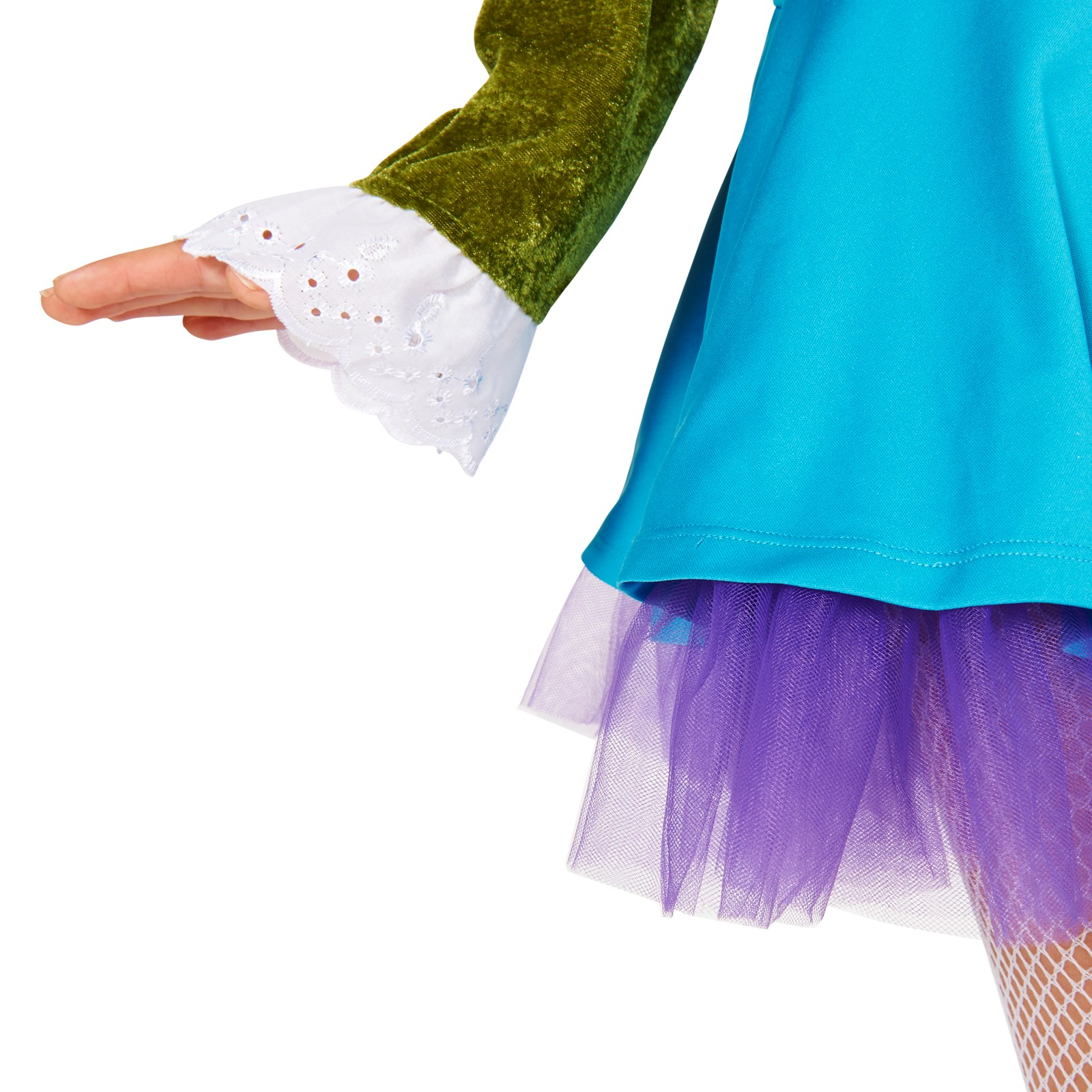 Lime green blue mad hatter plus adult costume for Lime and blue