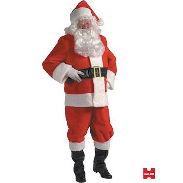 10 Piece Plush Santa Suit