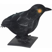"10"" Realistic Crow with Light Up Eyes and Sound"