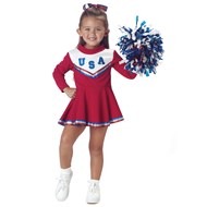Patriotic Cheerleader (Red)  Toddler