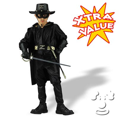 Zorro Deluxe Child - halloween costumes for teens