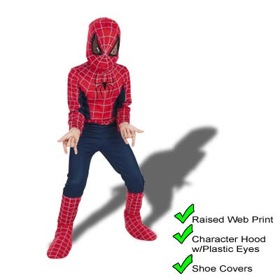 Spiderman 2002 Child Costume - kids movie halloween costumes