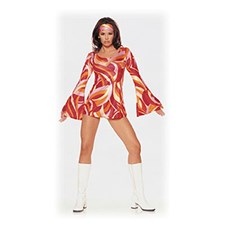 Click here for Retro Swirl Mini Dress from BuyCostumes.com