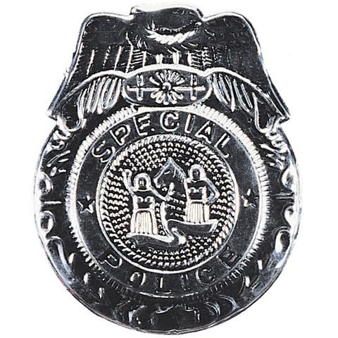 Badge Police Silver