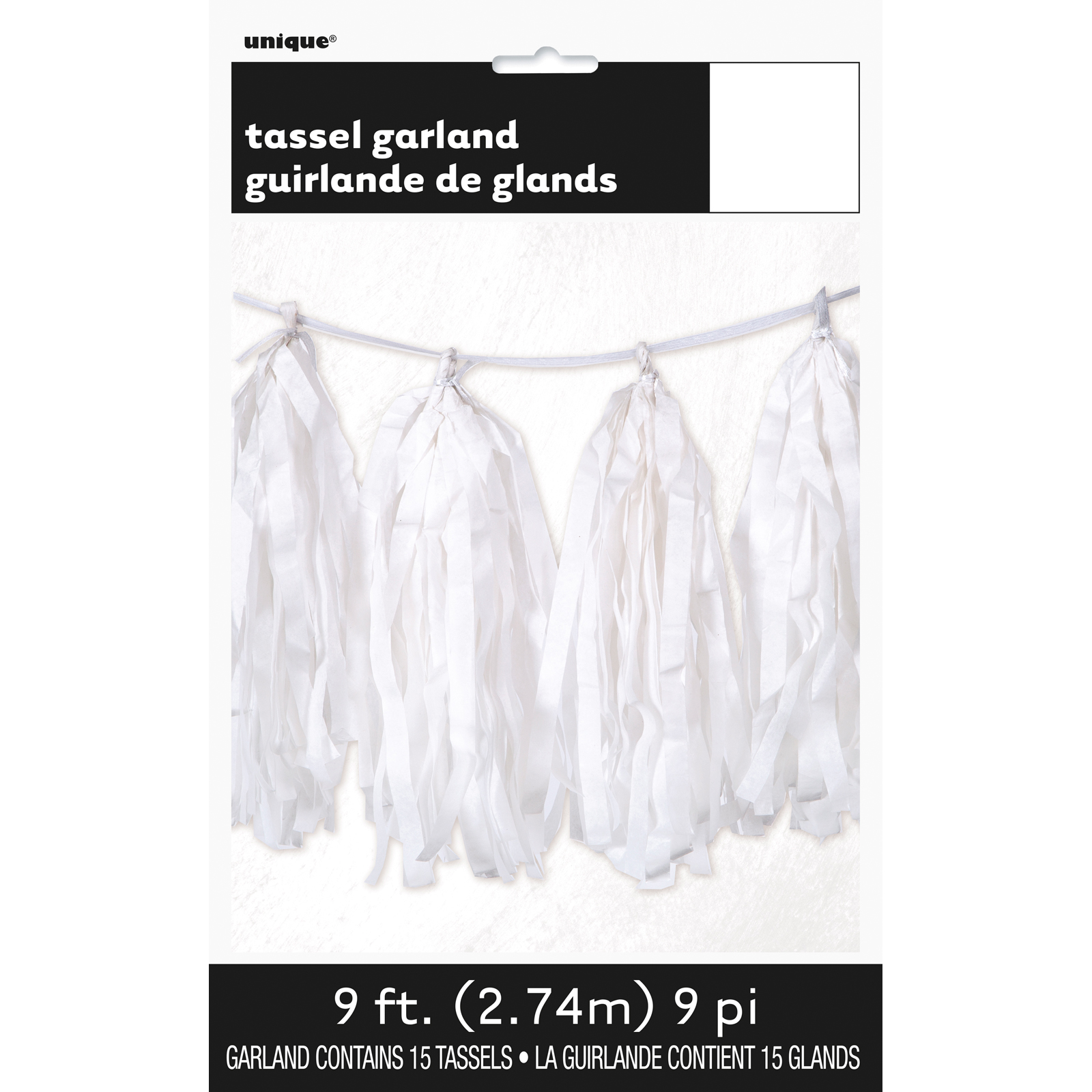 Coloured Party Hanging String Decoration Birthday TASSEL GARLAND 9ft//2.74m