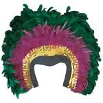 Mardi Gras Feather Headpiece