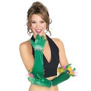 Velvet Mardi Gras Gloves