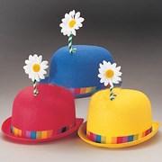 Bowler Clown Hat