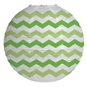 "12"" Round Paper Chevron Lantern - Fresh Lime"