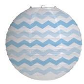 "12"" Round Paper Chevron Lantern - Pastel Blue"