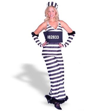 Jailbird Lady  Adult Costume