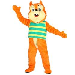 Nut E. Squirrel Mascot Adult Costume