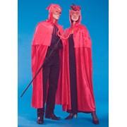 Hooded Velvet Double Cape- Red