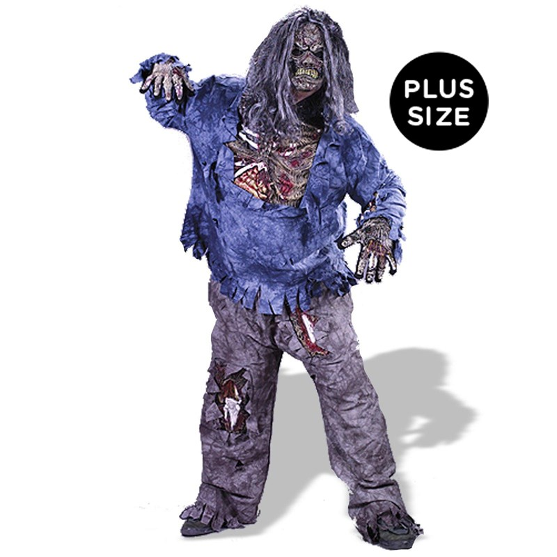 Complete Zombie Adult Plus Costume for the 2015 Costume season.