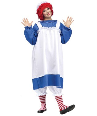 Raggedy Ann Adult Plus Costume