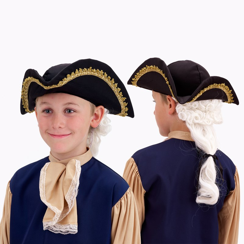 Colonial Hat with Wig Child for the 2015 Costume season.