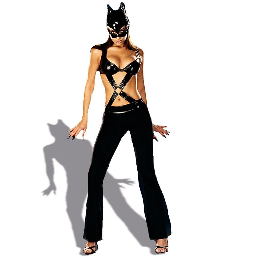 Как сшить костюм женщины кошки для куклы 20